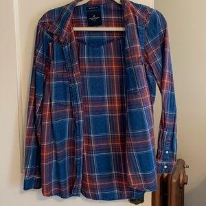 Denim Button up Flannel